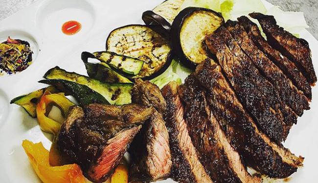 Carne verdure grigliate